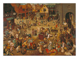 Der Kampf Zwischen Fasching Und Fasten  1559