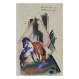 Traenke Am Rubinberge  1913 Postkarte an Else Lasker-Schueler
