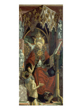Altarpiece of Four Latin Doctors: Centre Panel  Right Hand Side  Pope Gregory the Great  about 1480