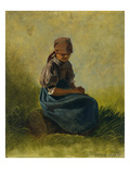Peasant Girl with Folded Hands  1837
