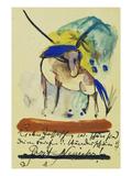 Pferd  1913 Auf Postkarte an Else Lasker-Schueler