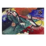 Zwei Affen  1913 Tusche/Aquarell/Deckfarben Auf Postkarte an Else Lasker-Schueler