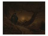 Two Men Looking at the Moon  1819/1820