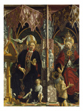 Altarpiece of the Four Latin Doctors  about 1480: Centre Panel  Left Hand Side  St Augustine
