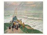 Waiting for the Fishermen (Bretagne)  1894