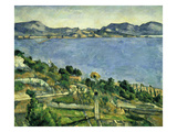L'Estaque Landscape in the Gulf of Marseille  about 1878/79