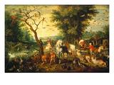 Noah Guiding the Animals onto the Ark