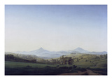 Boehmische Landschaft Mit Dem Milleschauer