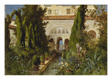 The Garden of the Generalife Palace  Granada  1885