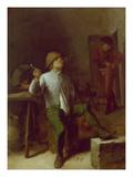 Peasant Smoking a Pipe