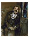 Man Yawning in a Railway Carriage  1859