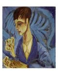 Kartenspielender Knabe  1915