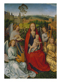 Madonna in the Rose Bower Left Panel of a Diptych