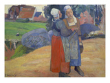 Breton Peasant Women Having a Conversation  1894