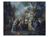 Allegory of the Reunion of Elector Max Emanuel with His Family  1715
