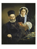 Portrait of Monsieur and Madame Auguste Manet  the Artist's Parents  1860