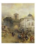 Street in Naples (Porta Capuana)  1875