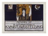 Original Poster for the Vii International Art Exhibition 1897