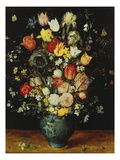 Flowers in a Blue Vase  about 1608