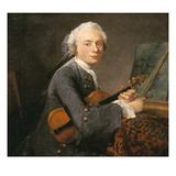 Bildnis Des Charles Godefroy Mit Violine