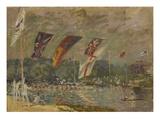 Regatta in Molesey Bei Hampton Court  1874