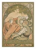 Poster Advertising the 'société Populaire Des Beaux-Arts'  1897