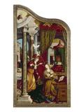 Wettenhausener Altar Inner Left Panel: Annunciation  1523