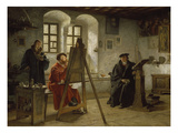 Cranach Painting Luther in the Wartburg Castle  about 1890