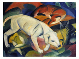 Three Animals (A Dog  a Fox  and a Cat)  1912