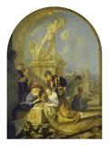 Spielende Kinder Vor Einer Herkulesgruppe  1687