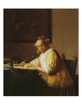 A Lady Writing  about 1665