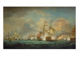 The Battle of Trafalgar  21st October 1805 Painted 1806