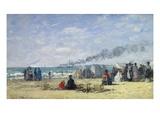 Strandleben in Trouville  1868