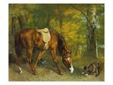 Pferd Im Walde  1863