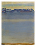 Lake Geneva with Savoyer Alps  1907
