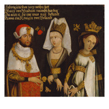 Louis Ii (1229- 1294)  Duke of Bavaria with His Wifes Mary of Brabant and Anna of Glogau