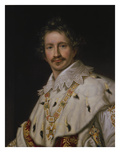King Ludwig I of Bavaria in Coronation Regalia (Half-Portrait)  about 1826