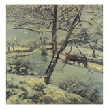 Winter at Montfoucault with Snow  1875