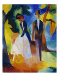 People at the Blue Lake (Leute Am Blauen See)  1913