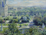 View of the Tuileries Gardens  Paris  1876