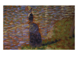 Angler at the Riverside of the Seine Study for 'La Grande Jatte'  1884/85
