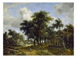 Village Street under Trees  about 1665