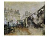 The Pont De L'Europe  Gare Saint-Lazare  1877