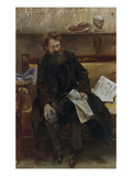 Portrait of the Poet Peter Hille  1902