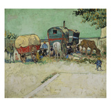 The Caravans  Gypsy Camp Near Arles (Les Roulottes / Campement De Boh&#233;miens)  1888