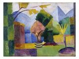 Garten Am Thuner See  1913