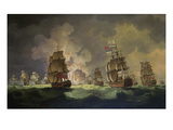 Nighttime Naval Battle Near St Vincent (On January 16Th  1780)