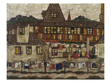 Houses with Clothes Drying  1917