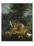Orpheus Spielt Vor Den Tieren Vor 1720