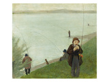 Fishermen at the Rhine River  1905